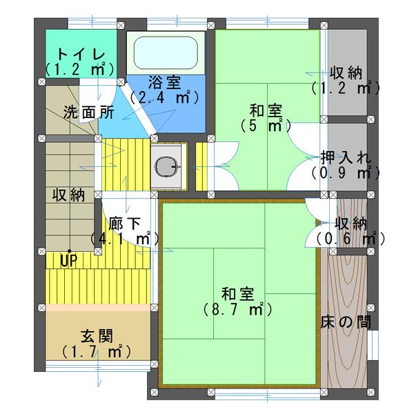 10坪の4LDKの間取り・2階リビングの狭小3階建て住宅・中央区 ...